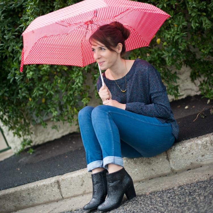 paillettes et parapluie