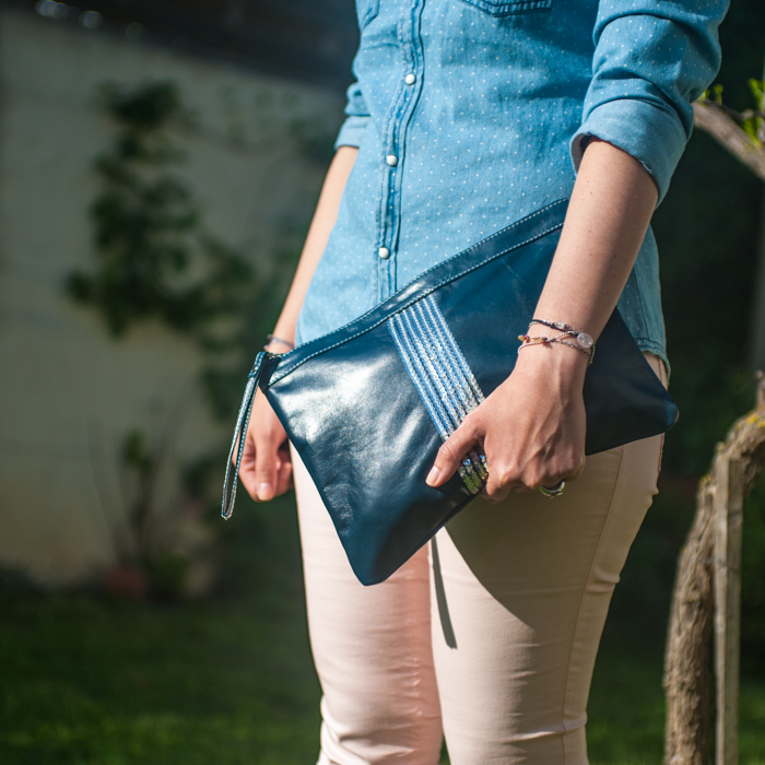 Pochettes bleue bobby&luisa