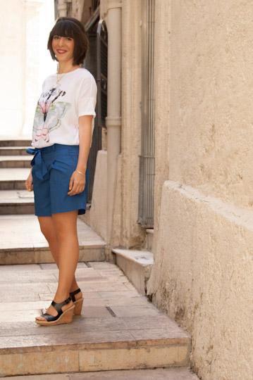 le short bleu