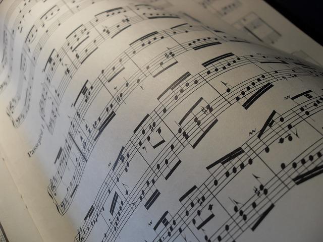 musique, partition,