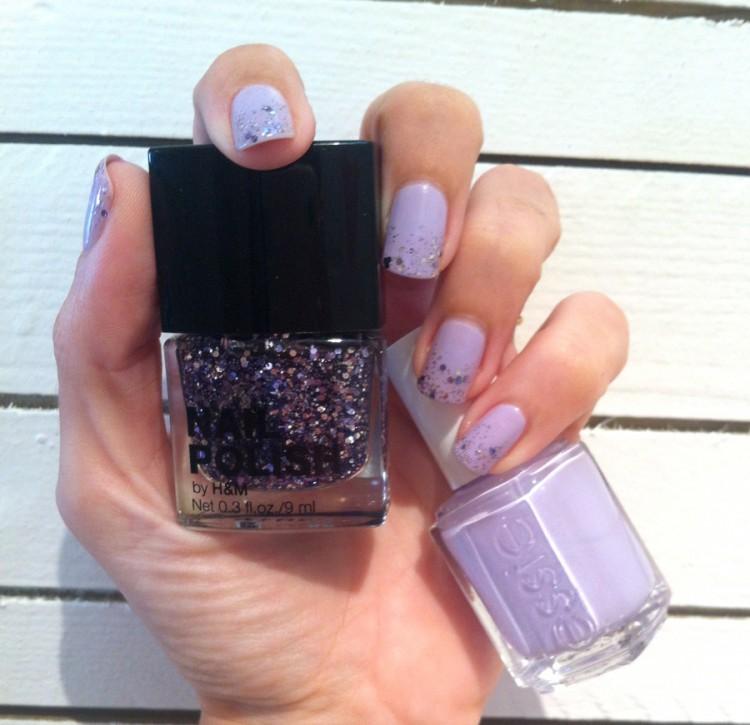 violet et paillettes
