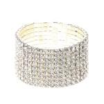 Bracelet stretch large argenté à cristaux 12 € - Claires