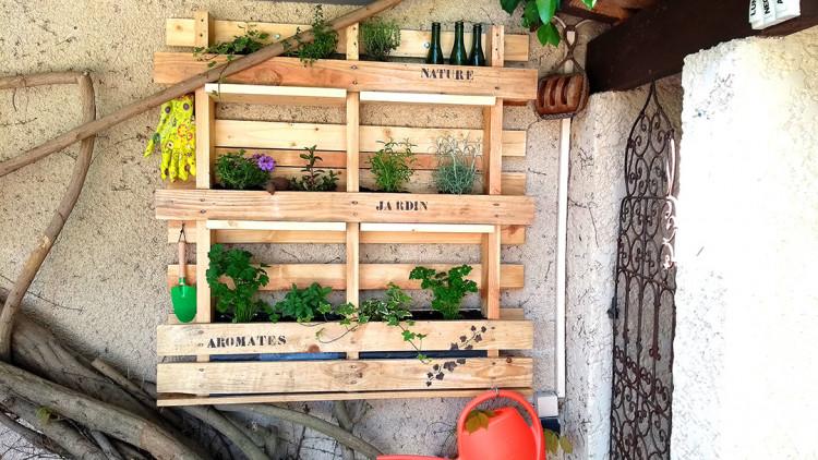 Palette jardin aromatique