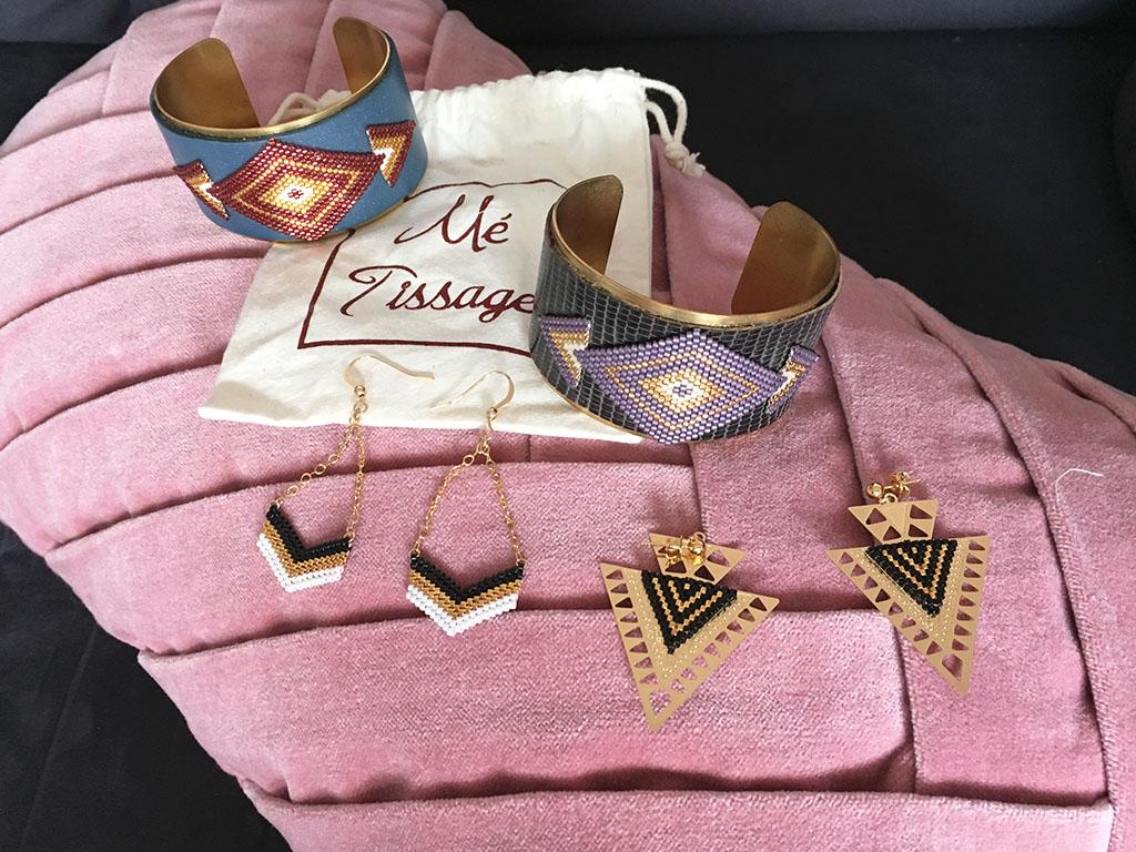 Les créations de Mé-tissage, bijoux en perles de miyuki