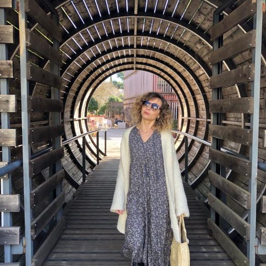 une robe longue esprit bohème Indi&cold collection 2019