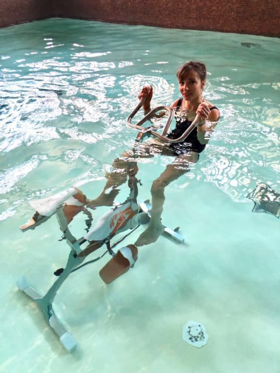 velo d'aquabike pour cours d'aquagym