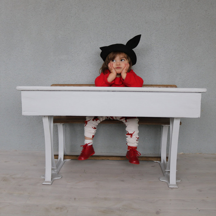 Bureau enfant vintage blanc