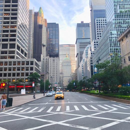 New york city street view