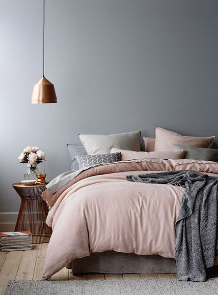 chambre tons pastels