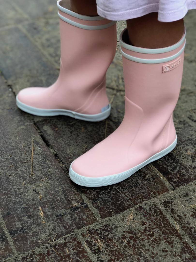 bottes de pluie enfant petite fille rose Lollipop de la marque Aigle