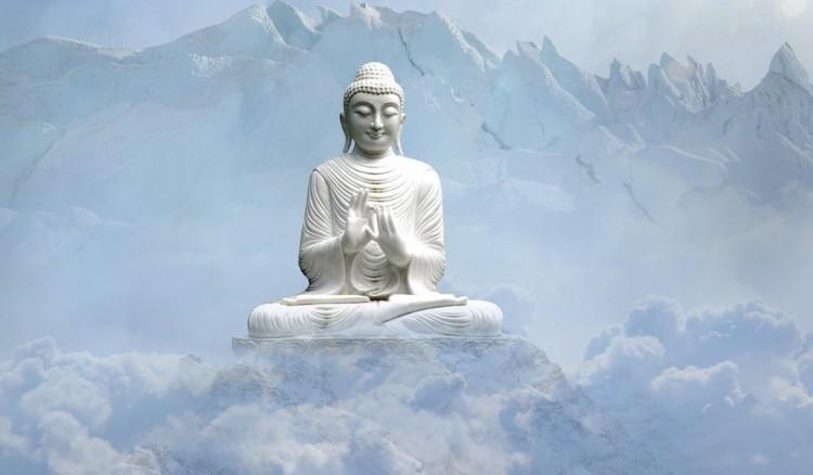 Bouddha blanc en lotus