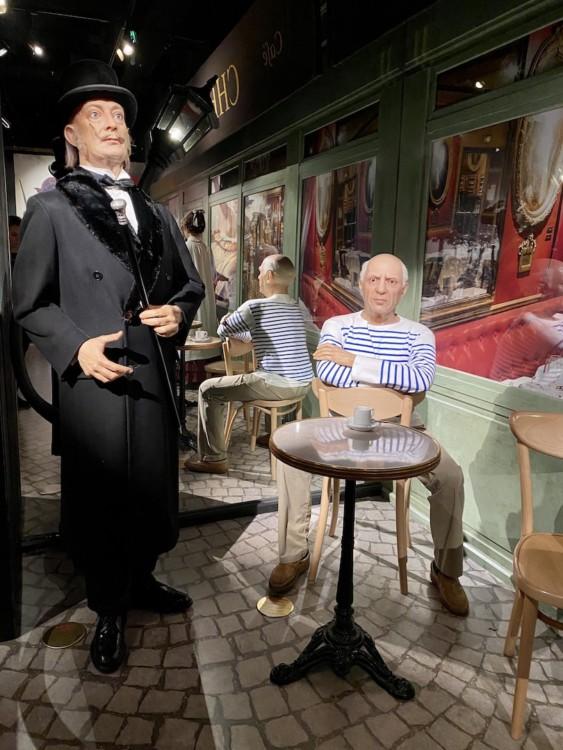 Salvator Dali et Pablo Picasso au musée Grevin à Paris
