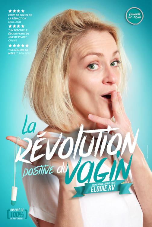 affiche de spectacle d'Elodie Cavé humoriste