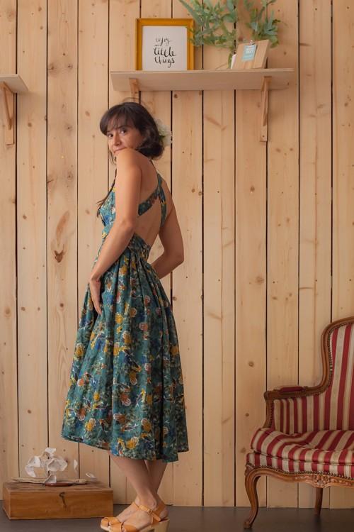 Robe longue imprimé floral Atelier Tiket