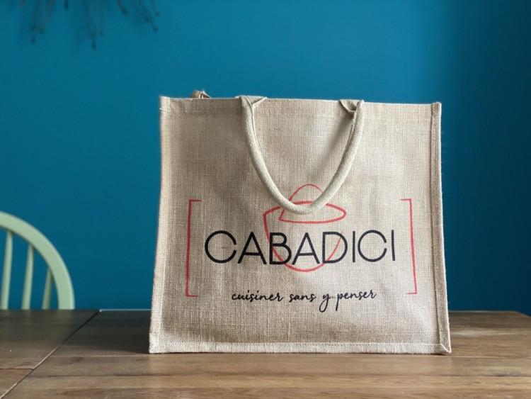 Cabas Cabadici rempli de courses pour la semaine