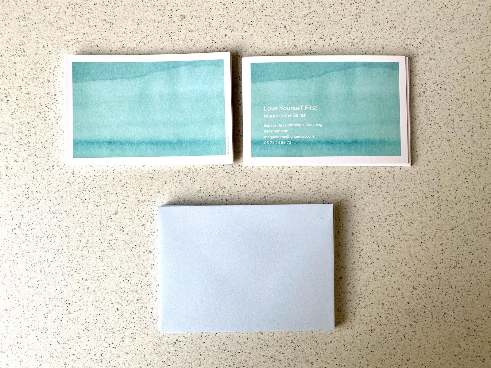 cartes professionnelles réalisé avec Rose Atelier