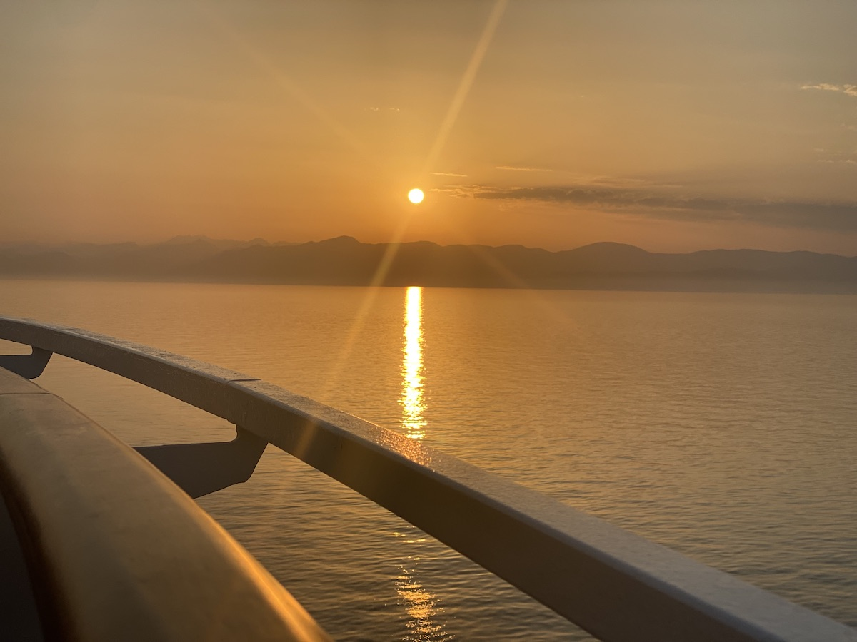 coucher de soleil méditerranée croisiere
